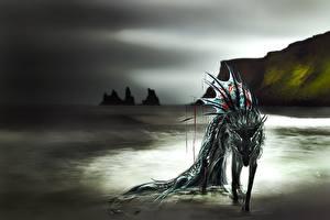 Фото Волшебные животные Побережье Фантастика
