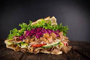 Обои Фастфуд Мясные продукты Овощи Еда фото