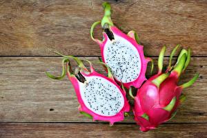Обои Фрукты Драконий фрукт Три Доски Еда
