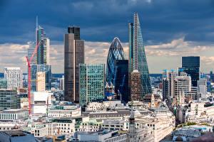 Картинки Великобритания Дома Небоскребы Лондоне Города