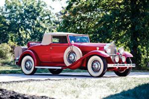 Обои Ретро Красный Родстер 1932 Packard Standard Eight Coupe Roadster Автомобили