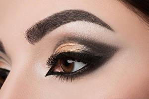 Обои Глаза Ресница Макияж Девушки фото
