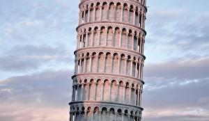 Фотография Италия Крупным планом Башня Leaning Tower of Pisa Города