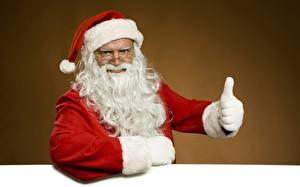 Обои Новый год Праздники Дед Мороз Перчатки Борода Шапки Очки фото