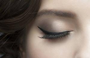 Обои Крупным планом Ресница Глаза Макро Макияж Девушки фото