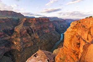 Фото Гранд-Каньон парк Америка Парк Гора Речка Утес Природа