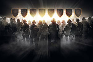 Обои Tom Clancy Солдаты Tom Clancy's Rainbow Six: Siege Осада Щит Игры фото