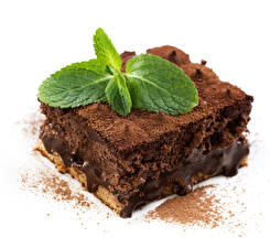 Фотография Шоколад Пирожное Торты Кусочки Какао порошок Продукты питания