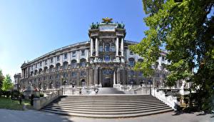 Фотографии Вена Австрия Дворец Лестница Imperial Palace Hofburg