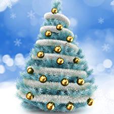 Фотография Праздники Новый год Новогодняя ёлка Шарики