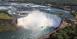 Картинка Канада Водопады Реки Niagara Falls Ontario