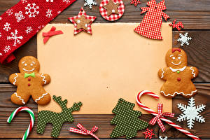 Картинки Праздники Печенье Новый год Шаблон поздравительной открытки Дизайн