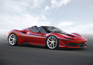 Обои Ferrari Красный Роскошные 2016 J50 Автомобили фото