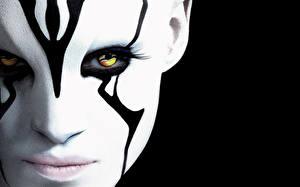 Обои Глаза Лицо Star Trek Beyond 2016 Фильмы Фэнтези Девушки фото