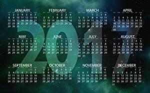 Обои Календарь 2017 Английский фото