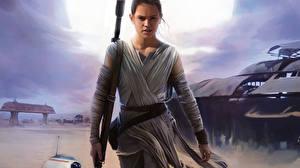 Картинка Звездные войны Звёздные войны: Пробуждение Силы Дэйзи Ридли Фильмы Фэнтези Девушки