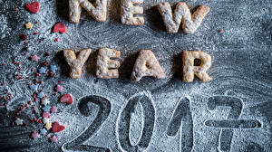 Обои Новый год Сахарная пудра 2017 фото