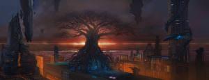 Фото Фантастический мир Дома Деревья Фэнтези
