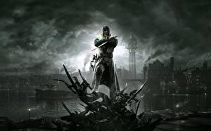 Обои Dishonored Воители Маски Мечи Игры Фэнтези фото