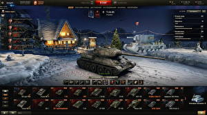Обои World of Tanks Новый год Танки Т-34 Русские T-34-85 in the hangar Игры фото