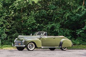 Обои Ретро Chrysler Кабриолет Металлик 1941 New Yorker Convertible Coupe Автомобили фото