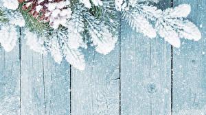Обои Доски Ветки Снег Шишки Шаблон поздравительной открытки фото