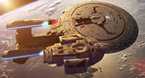 Обои Звездный путь Техника Фэнтези Корабли USS Enterprise (NCC-1701) Фильмы Фэнтези Космос фото