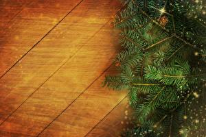 Обои Новый год Доски Ветки Шаблон поздравительной открытки фото