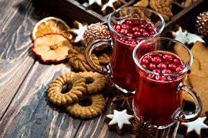 Картинка Новый год Напитки Печенье Кружка Доски Пища