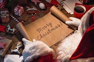 Фото Рождество Праздники Лист бумаги Бумага Английский