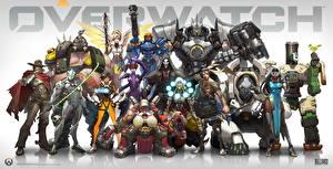 Фотография Overwatch Воители Винтовки Мужчины Робот Доспехи Игры Фэнтези Девушки