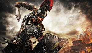 Обои Ryse: Son of Rome Мужчины Воители Доспехи Мечи Шлем Щит Игры Фэнтези фото