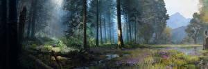 Обои Far Cry Леса Far Cry Primal Деревья Болото Игры Природа фото