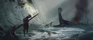 Фото Ryse: Son of Rome Воители Корабли Побережье Мертвый труп Игры