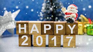 Обои Новый год 2017 Дед Мороз Английский фото