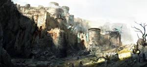 Фотография For Honor Замки Воины Крепость Игры Фэнтези