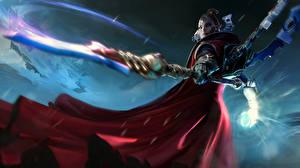 Обои Warhammer 40000 Dawn of War Воители Магия Копья Banshee Игры Девушки фото