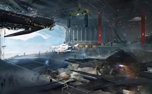 Обои Destiny (игра) Техника Фэнтези Корабли Игры Фэнтези фото