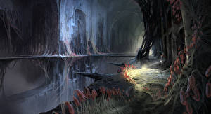 Фотография Destiny (игра) Фантастический мир Hive Catacombs Игры Фэнтези