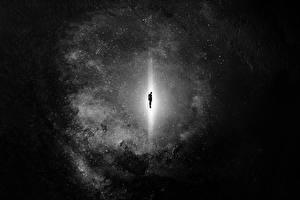 Призрак Черно белое Ночь