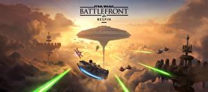 Фото Star Wars Battlefront 2015 Техника Фэнтези Корабль Облака Игры Фэнтези