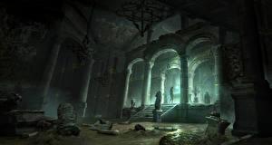 Обои Rise of the Tomb Raider Лара Крофт Колонна Арка Игры Фэнтези фото
