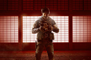 Обои Tom Clancy's Rainbow Six: Siege Осада Солдаты Маски Operation Red Crow Игры фото