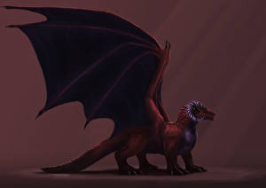 Драконы Крылья Красный