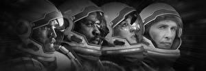 Фотография Астронавт Matthew McConaughey Anne Hathaway Интерстеллар В шлеме Christopher Nolan кино Фэнтези Знаменитости Девушки