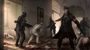 Wolfenstein Солдаты Пистолеты Немецкий The New Order Игры