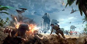 Star Wars Battlefront 2015 Воители Битвы Техника Фэнтези Взрывы Война Игры