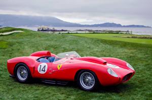 Обои Ретро Ferrari Красный 1958 250 TR58 Автомобили фото