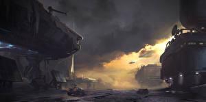 Картинка Halo Фантастический мир Halo 5: Guardians Игры