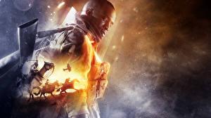 Обои Battlefield Солдаты Лысый Негр Игры фото